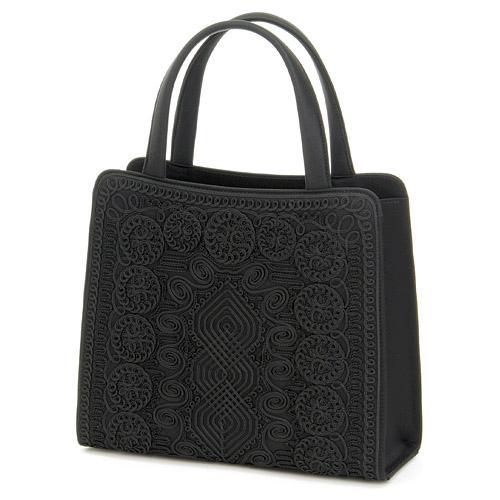 ブラックフォーマルバッグ コード刺繍トートバッグ 593-842