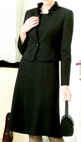 ブラックフォーマル クレール・シャロン 米沢織 アンサンブルスーツ R1-55187