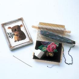初心者に最適なかんたん小型織り機 ダルマ オンラインショッピング 手織り機 ポータブル 絵織亜 お見舞い エオリア