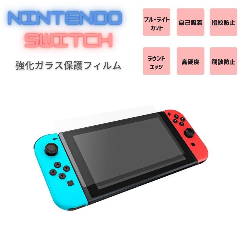 フィルム 送料無料 Nintendo Switch マーケティング 液晶画面保護フィルム ブルーライトカットタイプ 指紋防止 スイッチ ニンテンドー 飛散防止 強化保護ガラス 毎日激安特売で 営業中です