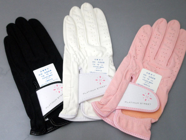 キャスコプラチナムストリートレディーススウェード compounding skin golf glove female office worker -815L