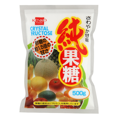 砂糖の約1.5倍 甘味料 正規品送料無料 代替砂糖 1004405-kf 500g 純果糖 健康フーズ 送料0円