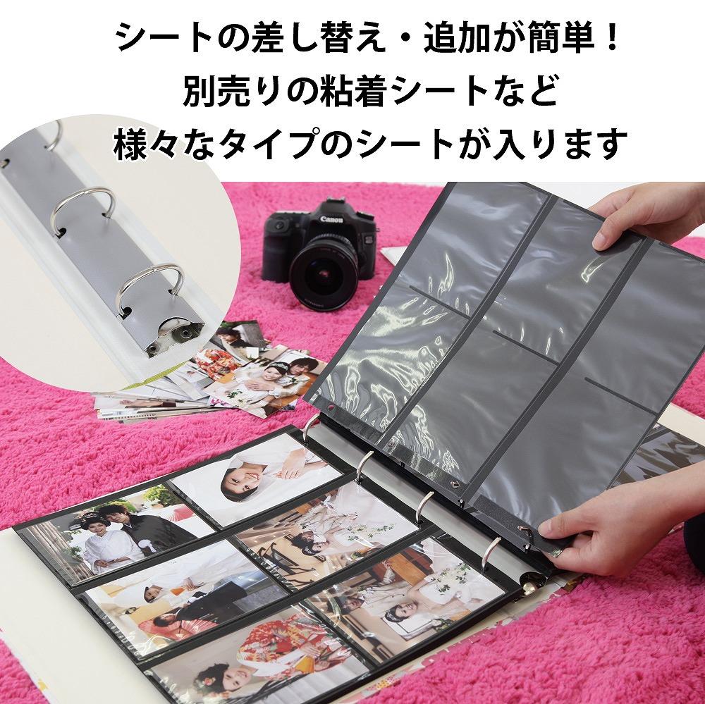 【楽天市場】写真 アルバム 大容量 丈夫な布表紙【リボン柄 360 ...