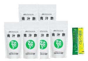 銀座まるかん マルカン 青汁酢約480粒 6個セットハリウッド グリーングリーン(国産有機栽培大麦若葉)&抹茶レモン試飲用サンプル付き
