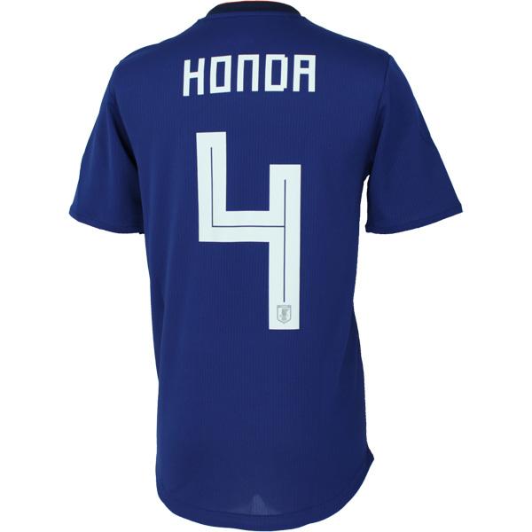 アディダス サッカー日本代表 2018 ホーム オーセンティックユニフォーム 半袖 4.本田圭佑 br3628 【adidas|アディダス】サッカー日本代表ウェアーdtq68-4-honda
