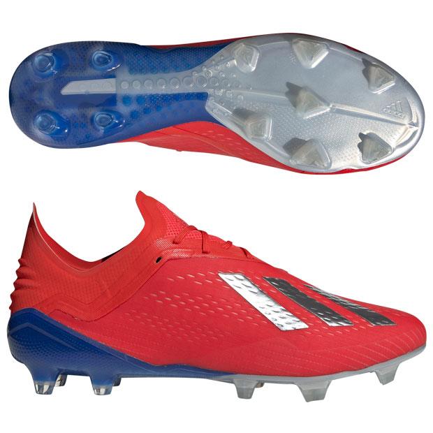 エックス 18.1 FG/AG アクティブレッドS19×シルバーメット 【adidas|アディダス】サッカースパイクbb9347