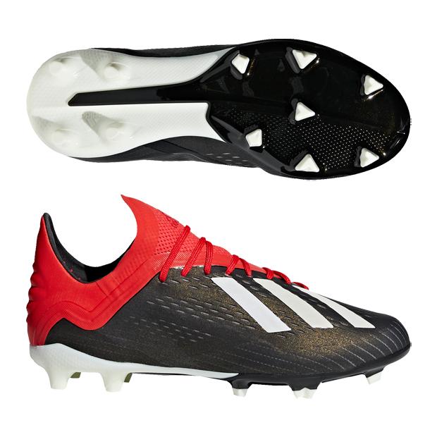 ジュニア エックス 18.1 FG/AG J コアブラック×ランニングホワイト 【adidas|アディダス】サッカージュニアスパイクbb9351