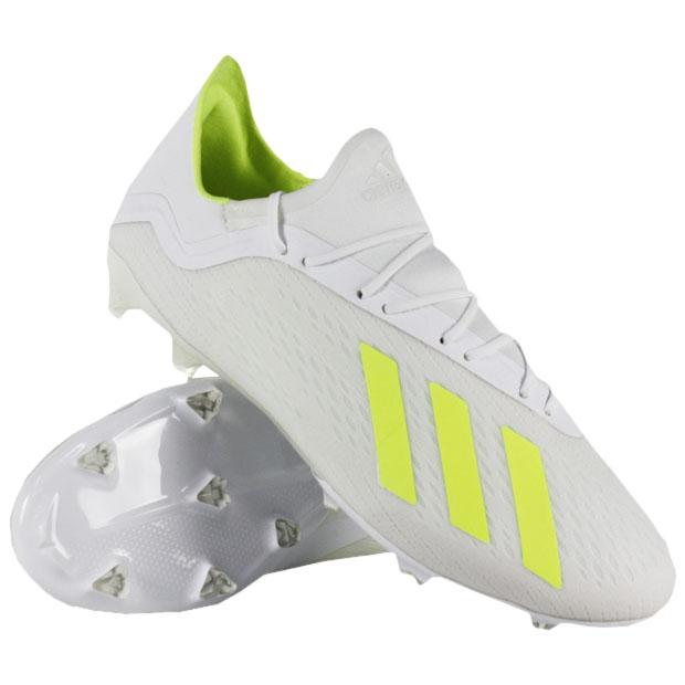 エックス 18.2 FG/AG ランニングホワイト×ソーラーイエロー 【adidas|アディダス】サッカースパイクbb9364