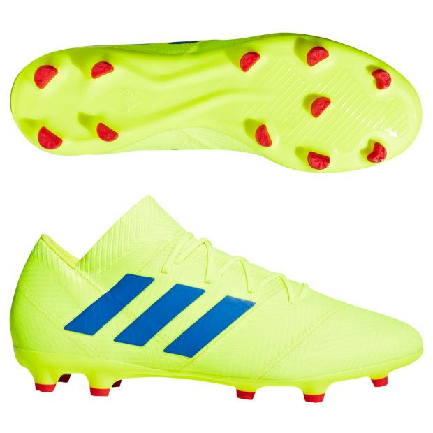 ネメシス 18.2 FG/AG ソーラーイエロー×フットボールブルー 【adidas|アディダス】サッカースパイクbb9431