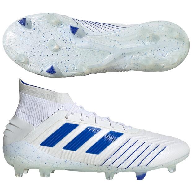 プレデター 19.1 FG/AG ランニングホワイト×ボールドブルー 【adidas|アディダス】サッカースパイクbc0550