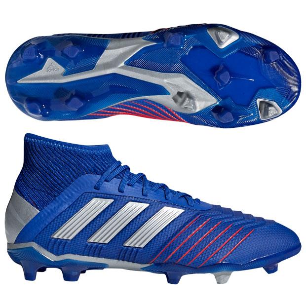 ジュニア プレデター 19.1 FG/AG J ボールドブルー×シルバーメット 【adidas|アディダス】サッカージュニアスパイクcm8530