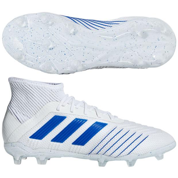ジュニア プレデター 19.1 FG/AG J ランニングホワイト×ボールドブルー 【adidas|アディダス】サッカージュニアスパイクcm8532
