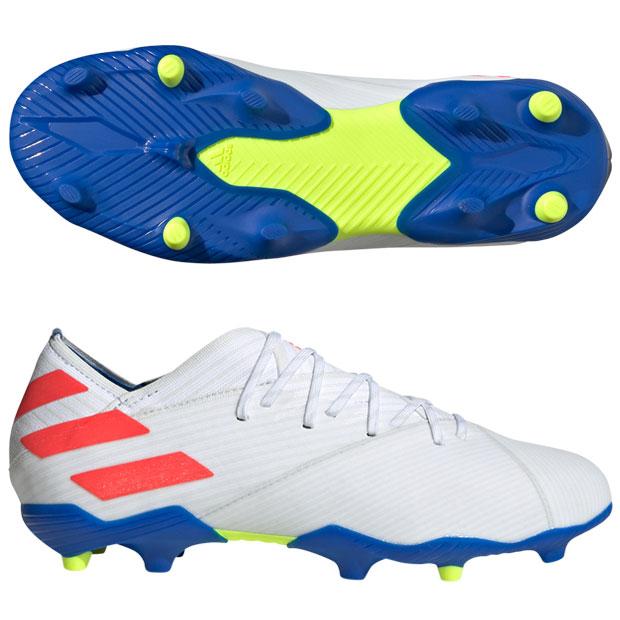 ジュニア ネメシス メッシ 19.1 FG J ランニングホワイト×ソーラーレッド 【adidas|アディダス】サッカージュニアスパイクf99934