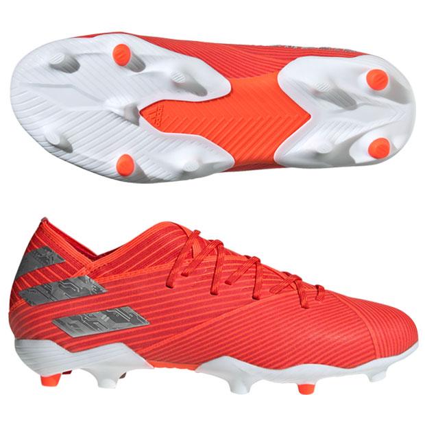 ジュニア ネメシス 19.1 FG J アクティブレッドS19×シルバーメット 【adidas|アディダス】サッカージュニアスパイクf99955