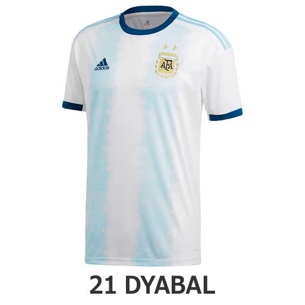 アルゼンチン代表 2019 ホーム 半袖レプリカユニフォーム 21.パウロ・ディバラ 【adidas|アディダス】ナショナルチームレプリカウェアーfly61-dn6716-21-d