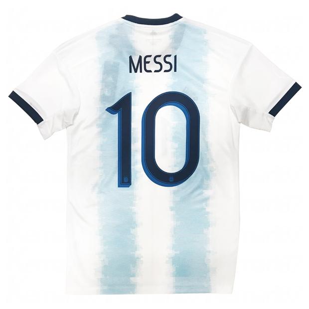 ジュニア KIDS アルゼンチン代表 2019 ホーム 半袖レプリカユニフォーム 10.メッシ 【adidas|アディダス】ナショナルチームレプリカウェアーfrw49-dp2839-10-m