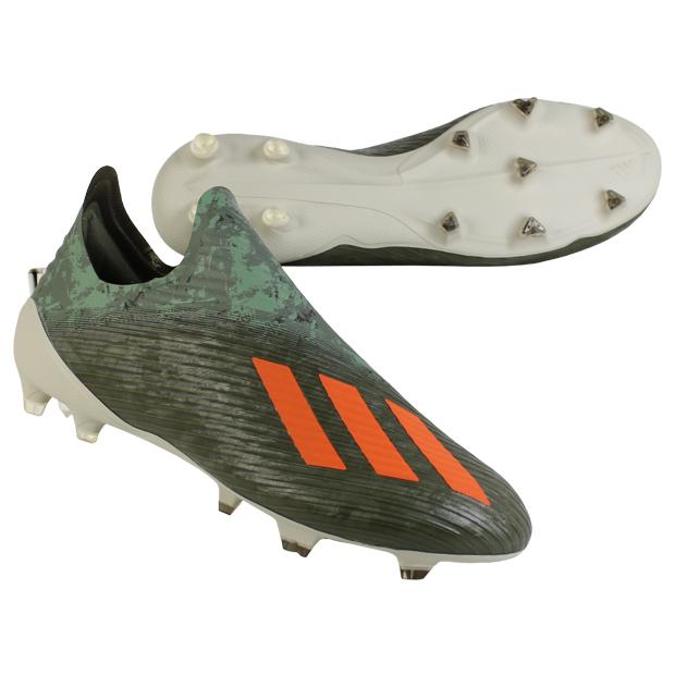 エックス 19+ FG レガシーグリーン×ソーラーオレンジ 【adidas|アディダス】サッカースパイクef8295