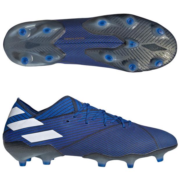 ネメシス 19.1 FG フットボールブルー×ランニングホワイト 【adidas|アディダス】サッカースパイクf34410