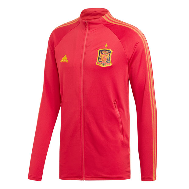 スペイン代表 アンセムジャケット ビクトリーレッド 【adidas|アディダス】ナショナルチームウェアーgll88-fi6295