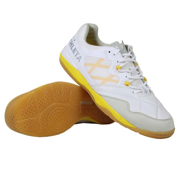 O-Rei Futsal Arthur Pホワイト×イエロー 【ATHLETA アスレタ】フットサルシューズ11008-pwhtyel