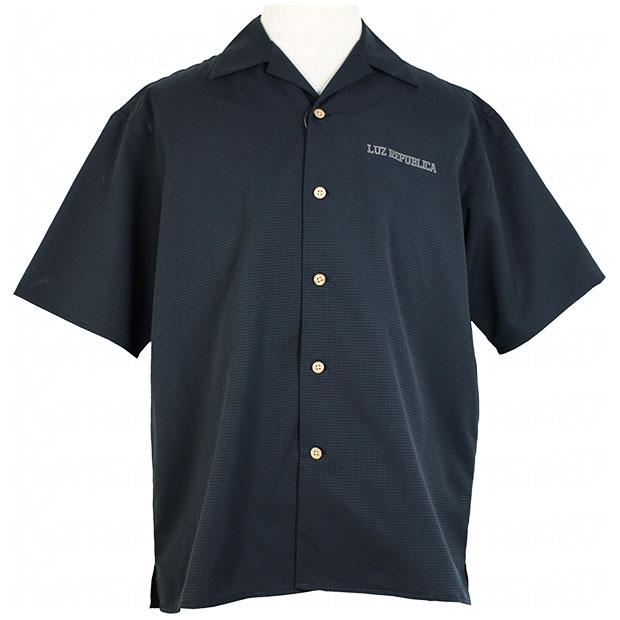 PART OF I オープンカラーシャツ ブラック 【LUZ e SOMBRA|ルースイソンブラ】サッカーフットサルウェアーo2012101-blk