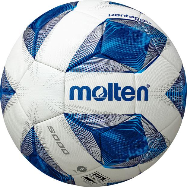 ヴァンタッジオ 5000 ホワイト×ブルー 【molten|モルテン】サッカーボール5号球f5a5000
