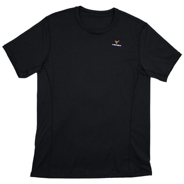 スタンダードドライショートスリーブ ブラック 【VENEX|べネクス】サッカーフットサルウェアーvenex-6520-blk