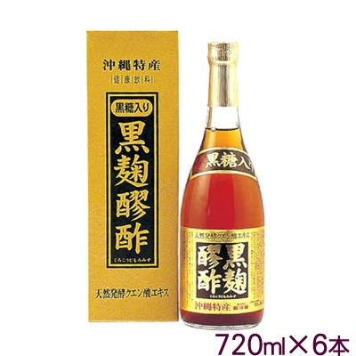 ヘリオス酒造黒麹醪酢(黒糖入り) 6本セット(もろみ酢)