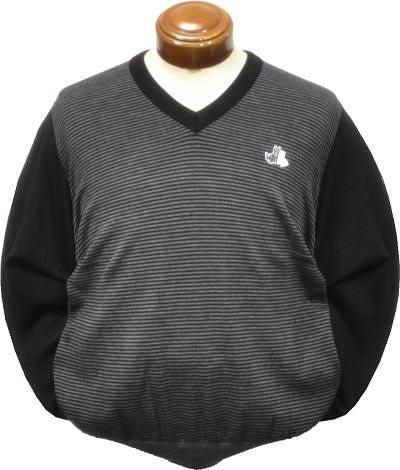 【セール/送料無料】 ブラックアンドホワイト メンズ Vネックセーター 2217GF/KN 家庭洗濯可 【L/LL】
