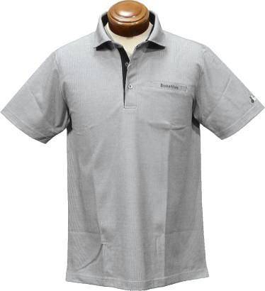 【セール】 ブラック&ホワイト 半袖ポロシャツ メンズ B9618GSYB 【LL】