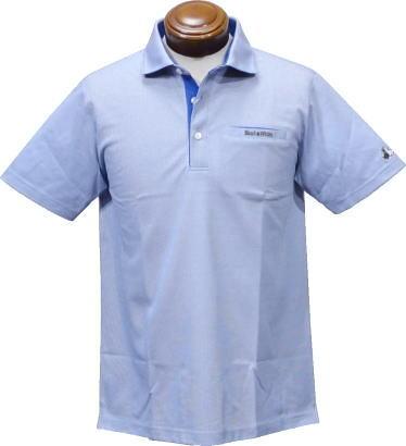 【セール】 ブラックアンドホワイト 半袖ポロシャツ メンズ B9618GSYB 【LL】