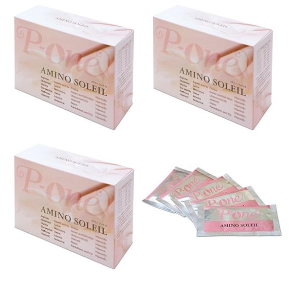 【国内送料無料】 アミノソレイユ P-one AMINO SOREIL 3箱90包 セット まとめ買い 美容 健康 ビタミンC 栄養機能食品