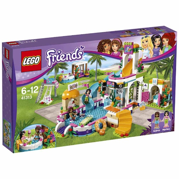 Lego friends throb water park 41313 LEGO Friends cognitive education toy