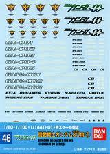 メール便発送可 ガンダムデカール GD46 1 60 100 144 輸入 HG ガンプラ 機動戦士ガンダム00 ステッカー ダブルオー ソレスタビーイング用1 高価値 シール 新品