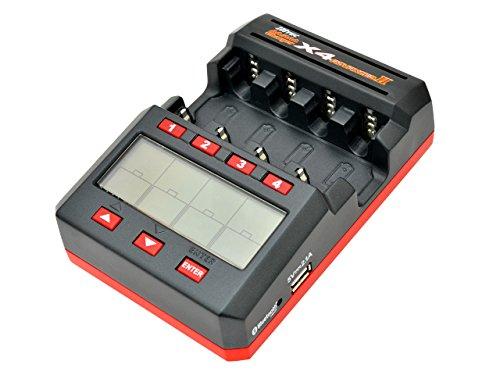 ミニ四駆 HITEC ハイテック AA/AAA Charger X4 Advanced II 44242 (単三・単四NiMH電池対応 多機能充・放電器)【新品】 メンテナンス 改造