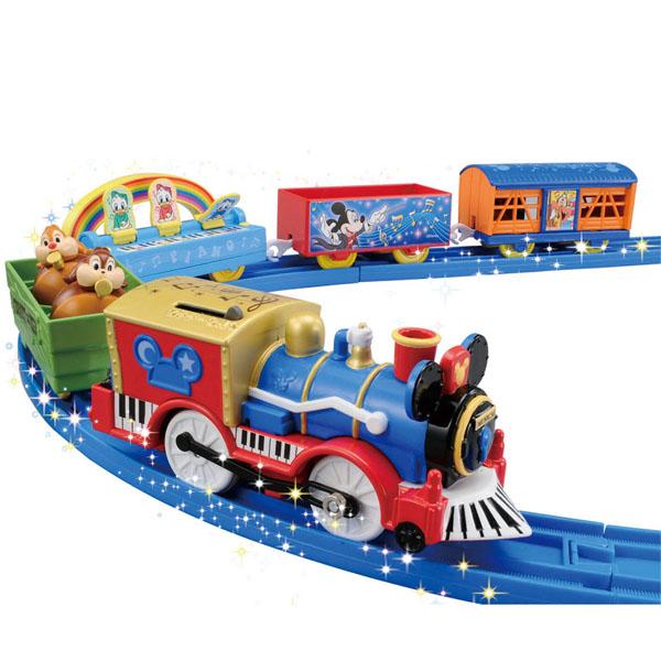 塑料轨道迪士尼梦铁路米老鼠&朋友歌舞剧盛装游行货车安排TAKARA TOMY安排