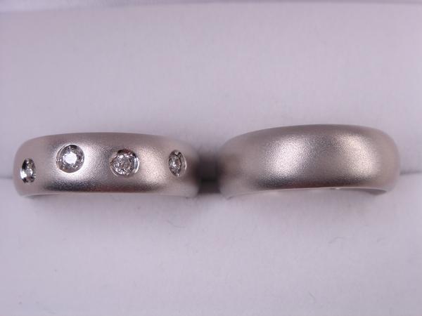 【送料無料】オリジナル結婚指輪・マリッジ&ペア ドッツマッドデザイン
