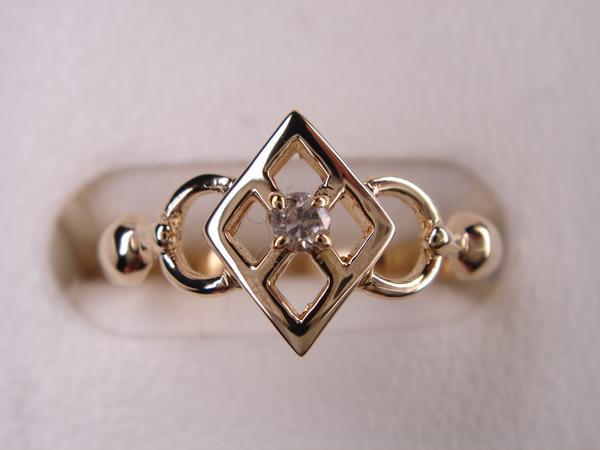 18金ダイヤデザインリング