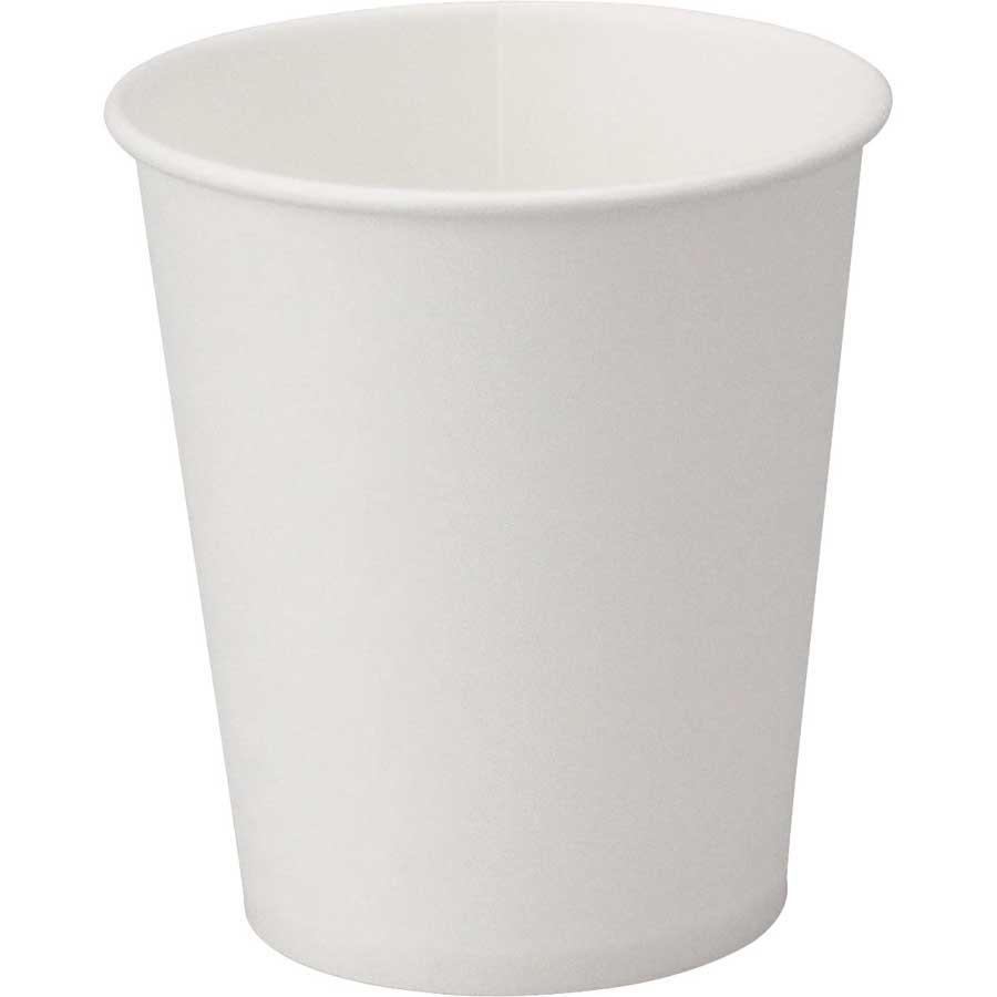 紙コップ 定番スタイル ペーパーカップ 500個 ホワイト 大注目 白 使い捨て 約9cm×高さ13cm 業務用 白無地 アイス対応 ホット