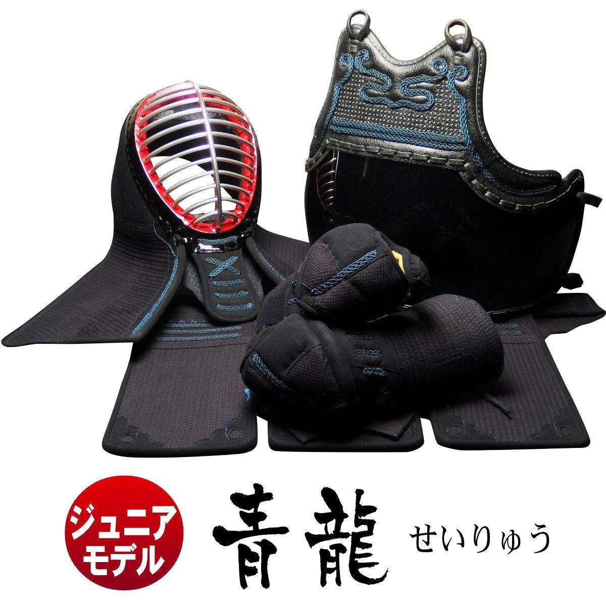 剣道防具セット 小学生 青龍 6mm機械刺 幼年から小学生まで対応 防具袋も特別価格でご奉仕中!