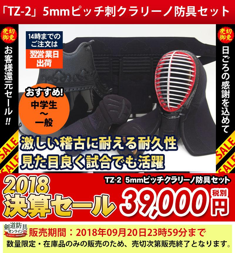 『TZ-2』5mmピッチ刺クラリーノ防具セット
