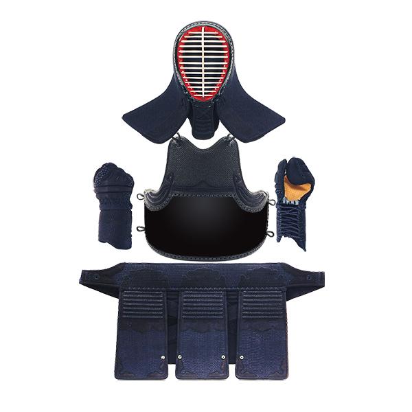 【高校生~一般向】フィットステッチ3ミリクラリーノ剣道防具セット【サイズ交換保証・送料無料】