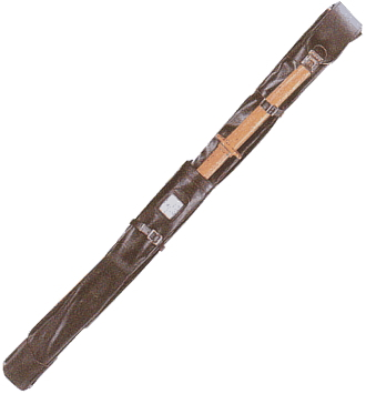 至上 合皮正式木刀入付ワンタッチ2本入 竹刀袋 美品 背負紐付
