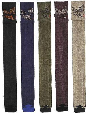 ソフトキャンバス鷹絵入略式裏付 半額 三本入竹刀袋 セール商品