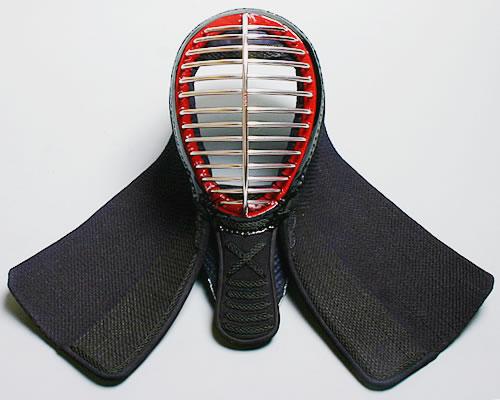 【あす楽】在庫処分品●剣道防具 面2.0分手刺しクロス●堅打面紐、縫面乳革付