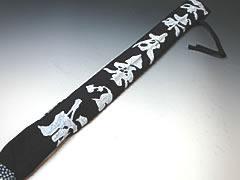 剑道 shinai 袋靛蓝染的白 shinai 袋 3) 为预订
