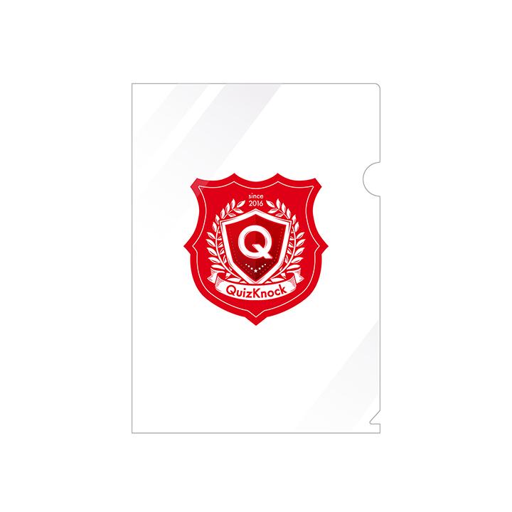 アウトレット クイズノックグッズ QuizKnock クイズノック エンブレム A4クリアファイル ◆高品質 メール便OK