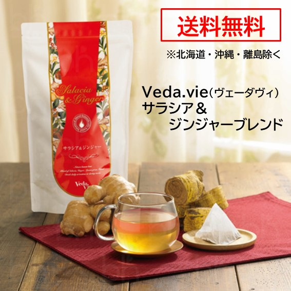 送料無料 Veda.vie ヴェーダヴィ サラシア ジンジャーブレンド 192g 3.2g×60包 本物 舗 ノンカフェイン 健康茶 カロリーオフ ジンジャー 糖質コントロール 置き換え