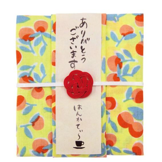 はんかてぃ~ 紅茶とハンカチのプチギフト 低価格 ごろごろ果実 ダージリン 紅茶 ハンカチ 和柄 和風 ギフト セット セール価格 かわいい ティーバック
