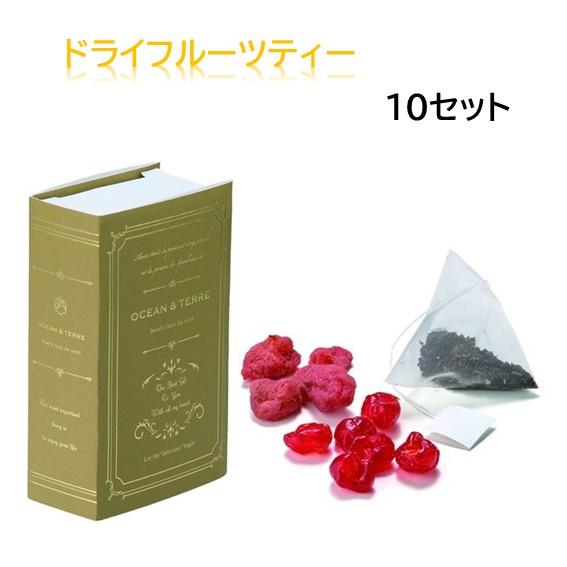 ドライフルーツティー ストロベリー チェリー 5点セット 手数料無料 ブックデザインギフト 紅茶 かわいい 贈答品 記念品 パッケージ 結婚祝い 海外並行輸入正規品